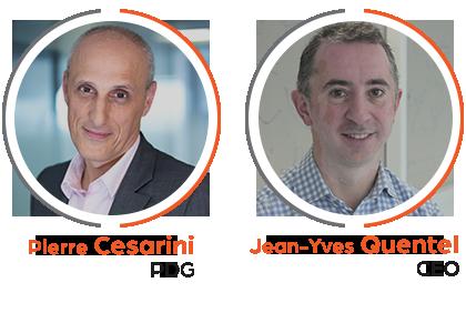 Pierre Cesarini (PDG) et Jean-Yves Quentel (CEO)